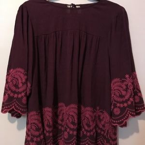 3/4 length sleeve Embroidered Top